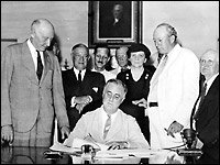FDR signs the Social Security Act - Library of Congress
